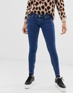 Укороченные джинсы скинни с заниженной талией Only Wonder-Синий
