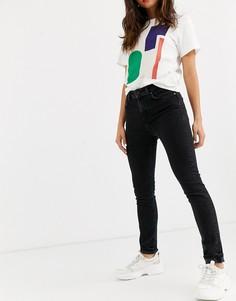 Черные джинсы узкого кроя с классической талией Selected Femme-Черный