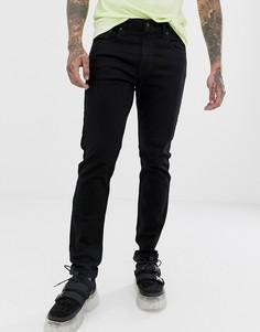 Черные зауженные джинсы Levis lo-ball 512-Черный