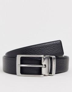 Кожаный ремень Calvin Klein Standalone-Черный