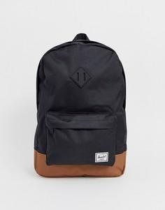Черный рюкзак вместимостью 21,5 л с контрастным основанием Herschel Supply Co Heritage
