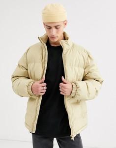 Бежевая дутая куртка Weekday Cole-Бежевый