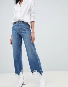 Джинсы с широкими штанинами и завышенной талией DL1961 - Hepburn-Синий