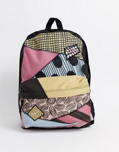 """Разноцветный рюкзак с принтом по мотивам мультфильма \""""Кошмар перед Рождеством\"""" Vans x Disney-Мульти"""