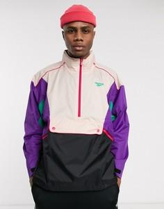 Черно-фиолетовая куртка Reebok-Фиолетовый