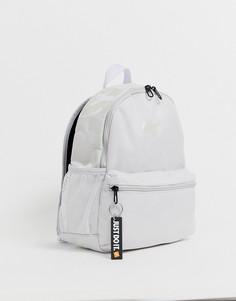 Серый миниатюрный рюкзак с переливающимся логотипом Nike just do it