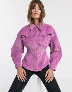 Вельветовая рубашка ASOS WHITE-Розовый