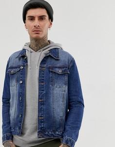 Синяя джинсовая куртка Another Influence-Синий