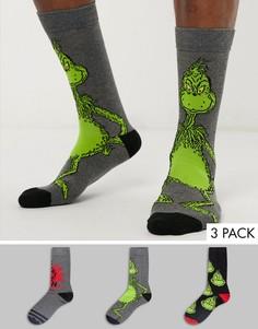3 пары носков с принтом New Look-Мульти