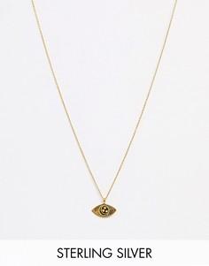 Ожерелье из позолоченного серебра Kingsley Ryan-Золотой