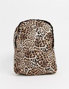 Рюкзак с леопардовым принтом ASOS DESIGN-Мульти