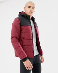 Дутая куртка колор блок Parka London-Красный