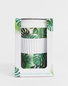 Дорожная кружка с пальмовым принтом Talking Tables eco-Зеленый