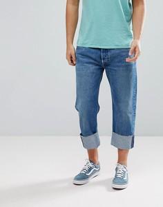 Суженные книзу укороченные джинсы Levis 501-Синий