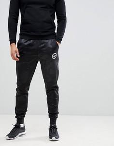 Черные облегающие джоггеры с камуфляжным принтом Hype-Зеленый