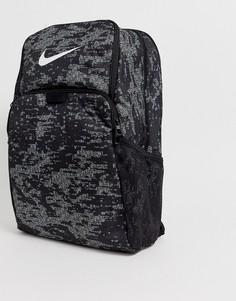 Черный рюкзак с камуфляжным принтом Nike Training Brasilia