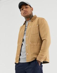 Светло-коричневая парусиновая куртка ASOS DESIGN-Светло-коричневый