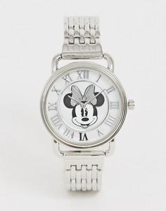 Серебристые женские наручные часы Disney minnie mouse-Серебряный