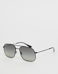 Квадратные солнцезащитные очки-авиаторы Ray-Ban 0RB3595-Черный