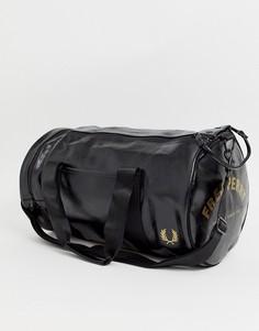 Черно-золотистая классическая сумка Fred Perry-Черный