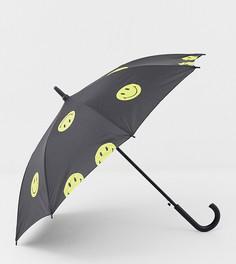 Черный зонт Chinatown Market - Smiley