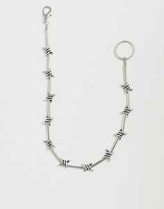 Серебристая цепочка для джинсов ASOS DESIGN-Серебряный