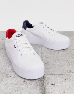Кроссовки на платформе с логотипом-флагом Tommy Jeans-Белый