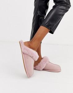 Розовые слиперы UGG Scuffette II-Розовый