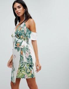 Платье с запахом и принтом Adelyn Rae Prescilla-Мульти