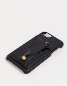 Чехол-кредитница для iPhone 6&7&8 Typo-Черный