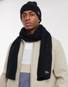 Подарочный набор из темно-синих шапки-бини и шарфа Replay-Темно-синий