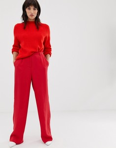 Брюки с широкими штанинами Selected Femme-Красный