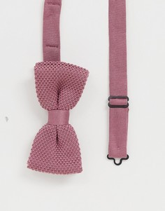 Розовый трикотажный галстук-бабочка Twisted Tailor