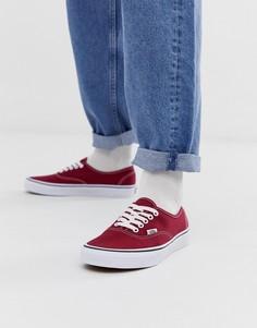 Бордовые кеды Vans Authentic-Красный