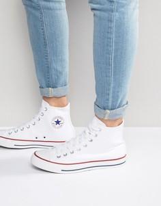 Высокие белые кеды Converse All Star m7650c-Белый