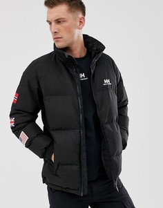 Дутая куртка с флагами Helly Hansen-Черный