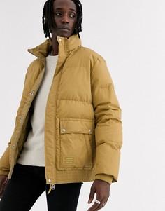 Дутая куртка горчичного цвета AllSaints-Желтый
