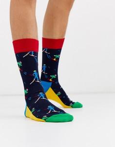 Носки с принтом Happy Socks-Темно-синий