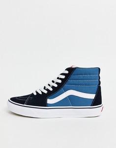 Темно-синие высокие кеды Vans-Темно-синий