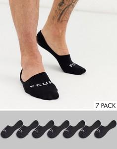 7 пар черных невидимых носков French Connection-Черный