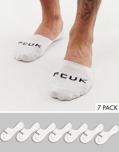 7 пар белых невидимых носков French Connection-Мульти