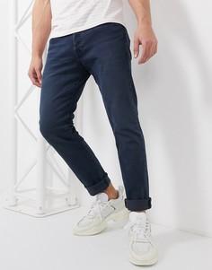 Темные узкие джинсы Levis 501-Синий