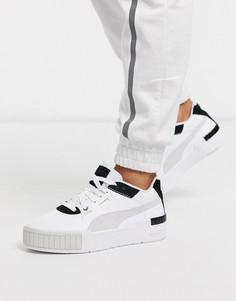 Бело-черные кроссовки на массивной подошве Puma Cali-Белый
