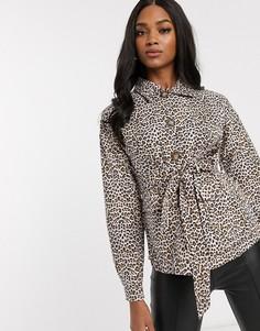 Куртка в стиле милитари с леопардовым принтом Vila-Мульти