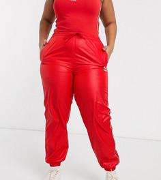 Красные джоггеры с завышенной талией Puma Plus эксклюзивно для ASOS-Красный