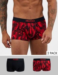 Набор из 2 боксеров-брифов с камуфляжным принтом HUGO bodywear-Черный