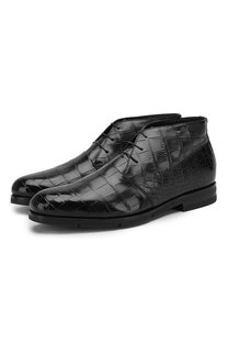 Ботинки из кожи аллигатора Santoni