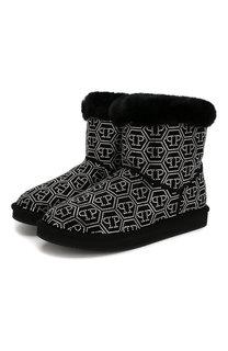 Замшевые ботинки Philipp Plein