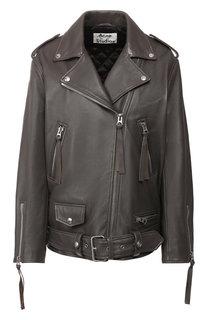 Кожаная куртка с поясом Acne Studios