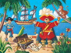 Пазл DJECO Пират (разноцветный)